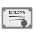 Diploma icon gray monochrome style vector image