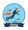 diving sport vector image