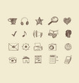 drawn web icons vector image