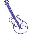 electric guitar musical instrument strings vector image