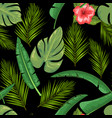 exotic abstract jungle or tropical leaf and vector image vector image