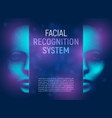 facial recognition system concept with 3d vector image