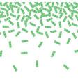 finance concept money rain vector image