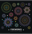 firework collections design background vector image vector image
