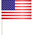 Flags of USA vector image