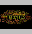 formosan termites text background word cloud vector image vector image