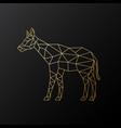 geometric okapi golden polygonal vector image vector image