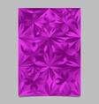 geometrical violet triangular flower pattern vector image vector image