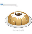 glazed orange coconut cake micronesian famous vector image vector image