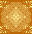 golden background with vintage ornaments or vector image