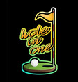 golf hole with flag sticker game equipment vector image