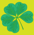 image of a clover leaf vector image