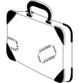 isolated travel suitcase icon vector image vector image