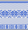 Knitted dollar blue white scheme vector image