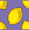 lemons seamless pattern on a purple background vector image vector image