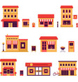 Local Business Buildings vector image