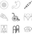 man health icons set outline style vector image vector image