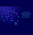 map australia from the contours network blue vector image