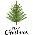 merry christmas fir tree vector image vector image