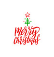 merry christmas lettering hand drawn new vector image vector image