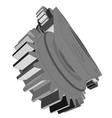 metal cog wheel vector image vector image