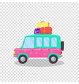 modern car with spacious trunk and luggage voyage vector image vector image