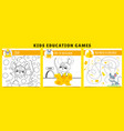 mouse kids games coloring game find cheese vector image