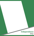 nigeria independence day vector image vector image