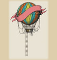 Old Air Balloon vector image vector image