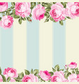 ornate pink flower border vector image