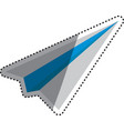 Paper plane origami vector image vector image