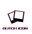 photos icon flat vector image vector image