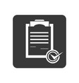quality control icon with checklist sign vector image