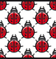 Seamless pattern of a red spotted ladybug vector image vector image