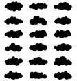 set clouds vector image