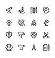 set flat icons in style creativity vector image
