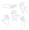 set of hand drawn arms vector image