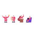 set santa claus festive activities fantasy vector image