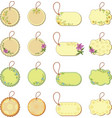 Set tags with floral pattern vector image vector image