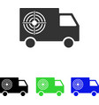 Shooting gallery truck flat icon