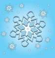 snowflake light 3d vector image vector image