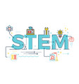 STEM - science technology engineering mathematics vector image vector image