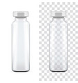 Template of transparent glass medical ampoule with vector image vector image