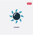 two color summer icon from meteorology concept vector image
