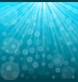 Underwater background with sun rays vector image