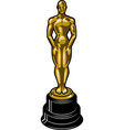 vintage cinematic academy award template vector image vector image