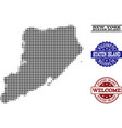 welcome composition of halftone map of staten vector image vector image
