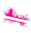winter floral background vector vector image vector image