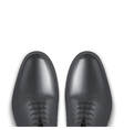 Background of Male fashion classic black shoes vector image