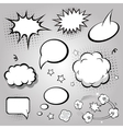 Comic Speech Bubbles Black and white vector image